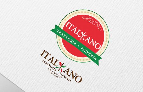 Italiano Pizzeria. Logo