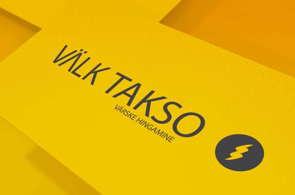 Välk Takso. Logo. Bränd